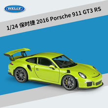Welly Diecast 1:24 Car Simulator Model Car Alloy Porsche 911(997) GT3 RS Sports Car Metal Toy Racing Car For Kid Gift Collection