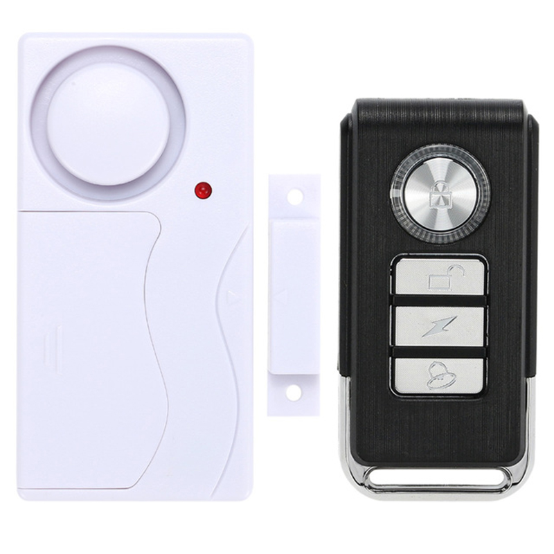 New Arrival Wireless Magnetic Window Door Sensor Detector Remote Control Entry Detector Anti-Theft Alarm System