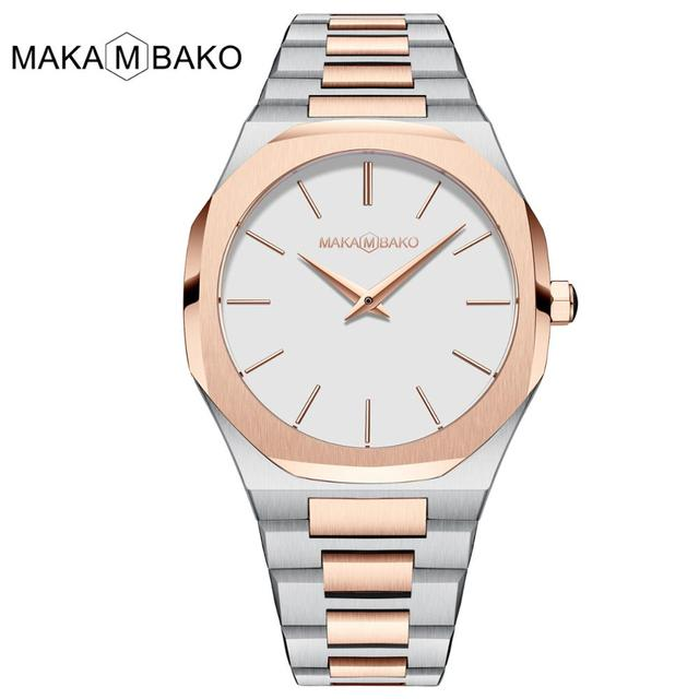 Japan Movement Waterproof Stainless Steel High Quality Luxury Brand MAKAMBAKO Simple Square Watch Women 2020 New Arrival Rose Gold Black Ladies Wrist Watches For Woman Fashion Female Quartz Wristwatches Drop Shipping
