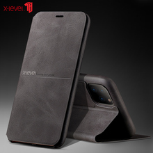 X-Level Leather Case For iPhone 11 Pro Max Flip Stand Holder Soft Touch Back Phone