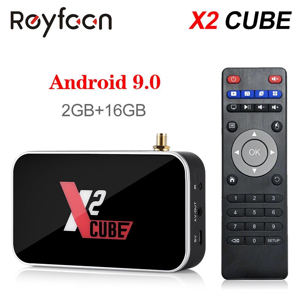 Android 9.0 TV Box X2 Cube S905X2 DDR4 RAM 2GB 16GB 4GB 32GB 2.4G 5G double Wifi 1000M Bluetooth 4.2 lecteur multimédia 4K HD X2 Pro