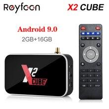 アンドロイド 9.0 テレビボックス X2 キューブ S905X2 DDR4 ram 2 ギガバイト 16 ギガバイト 4 ギガバイト 32 ギガバイト 2.4 グラム 5 グラムデュアル無線 lan 1000 メートルの bluetooth 4.2 メディアプレーヤー 4 18k hd X2 プロ