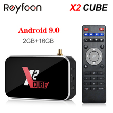 Android 9.0 TV kutusu X2 küp S905X2 DDR4 RAM 2GB 16GB 4GB 32GB 2.4G 5G çift Wifi 1000M Bluetooth 4.2 medya oynatıcı 4K HD X2 Pro