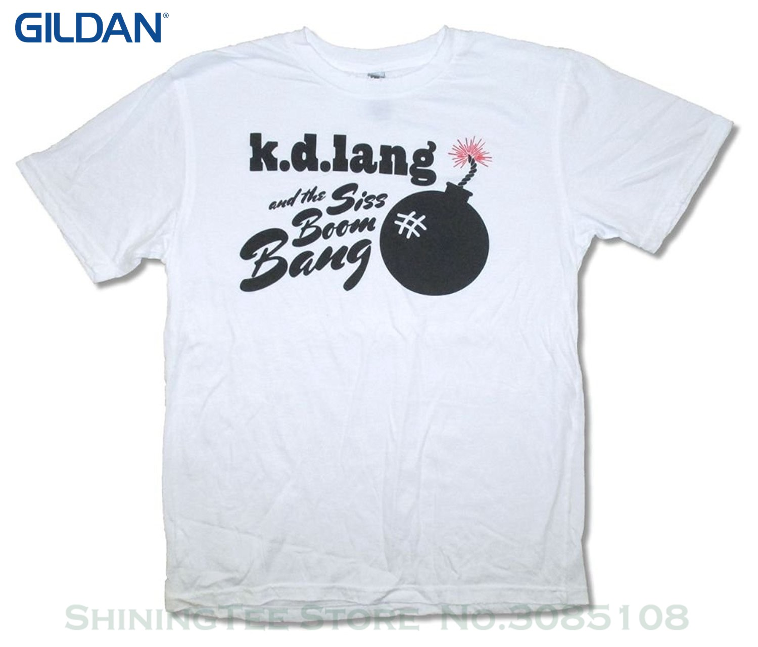 Cool Casual Sleeves Cotton tshirt Fashion <font><b>Kd</b></font> Lang Siss Boom Bomb On White T <font><b>Shirt</b></font> image