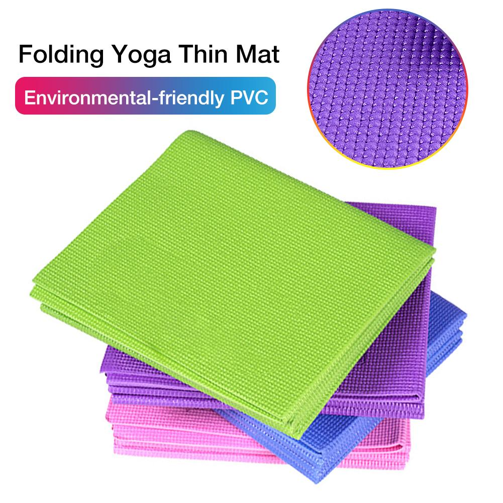 TPE Non slip Yoga Mats For Fitness Tasteless Brand Pilates Mat 4Color Gym Exercise Sport Mats Pads with Yoga Bag Yoga Strap in Yoga Mats from Sports Entertainment