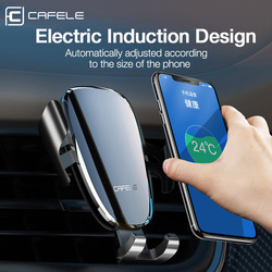 Cafele Intelligent Car Phone Holder Stand Automatic Electric Car Holder For Huawei iPhone X 11 Xiaomi Air Vent Anti-power off