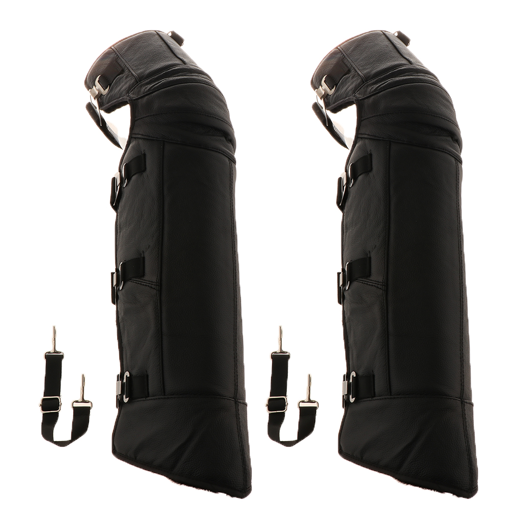 Motorcycle Knee Protector Protective Half Chaps Leggings Covers Adjustable