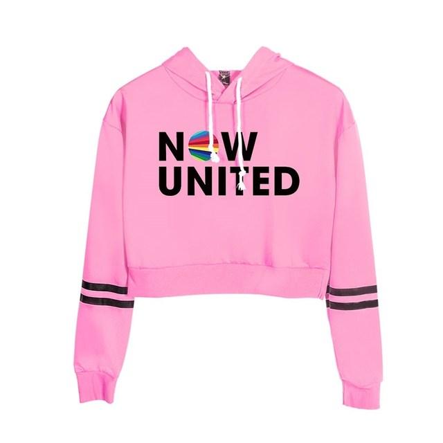 Now United Crop Top Hoodies Harajuku Japanese Anime Uzumaki Printed Hoodie Women Streetwear Fashion Cropped Sweatshirt Coat 4