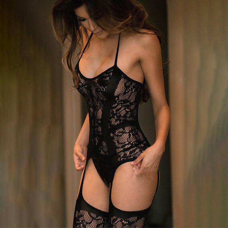 Sexy Nightdress Women Hot Erotic Lingerie Porn Baby Dolls Dress Sexy Costumes Teddy Underwear Full Slips Dress Bodysuit Babydoll