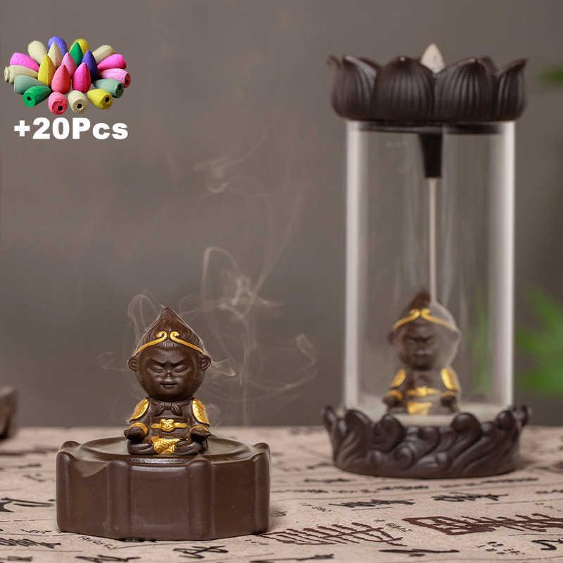 Фото Подарок 20 шт благовония творческие украшения подарок дзен Обезьяна Король