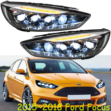 1set 2015 2016 2017 2018year car bumper head light for Focus headlight all in LED for Focus headlamp