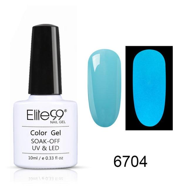Elite99 1pc UV Gel Nacht Glow In Dark Lack Lacke Tränken-weg UV LED Nagel Gel Leuchtstoff Neon leuchtende Farben Nagellack