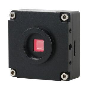"Image 4 - 1080P 21MP HDMI HD industria Digital TF cámara de Video de microscopio Set + 180X/300X c mount lente + soporte de MESA + 144 LED Light + 8 ""LCD"