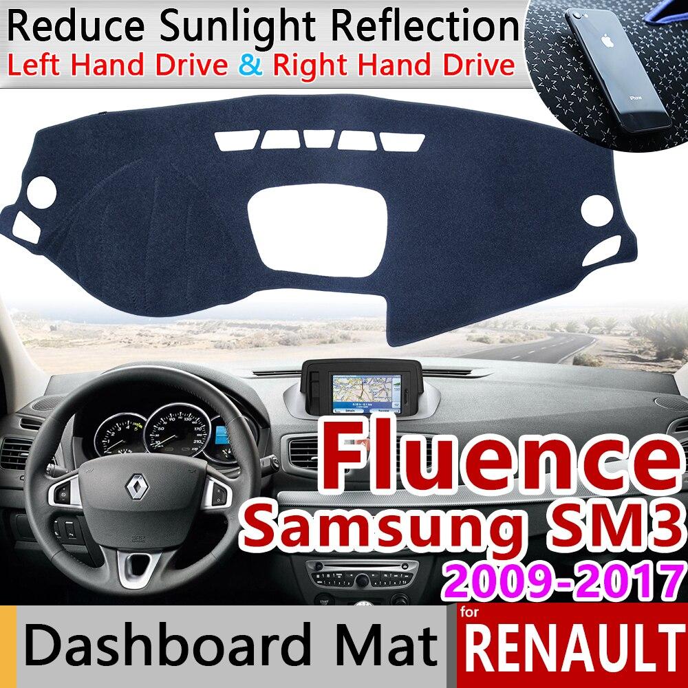 For Renault Fluence 2009~2017 Samsung SM3 Anti-Slip Mat Dashboard Cover Pad Sunshade Dashmat Car Accessories 2012 2014 2015 2016