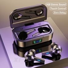 Tws bluetooth 5.0 fones de ouvido com microfones 9d alta fidelidade graves fones sem fio ipx6 à prova dwaterproof água esporte bluetooth