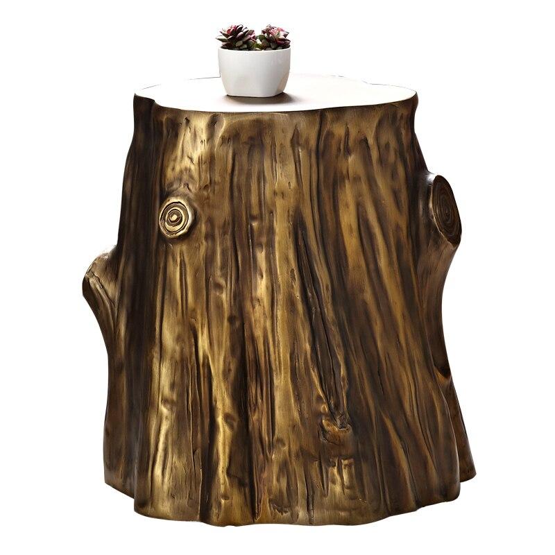 Imitação de madeira sala estar lateral pequena mesa de café retro casual pequena mesa de café banqueta personalidade mesa lateral