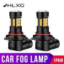 HLXG H8 Led H11 H16 (ue) 5202 9012 HIR2 lampa przeciwmgielna samochodu motocykl światła do jazdy dioda emitująca Auto 12V 24V żółty biały Nebbia