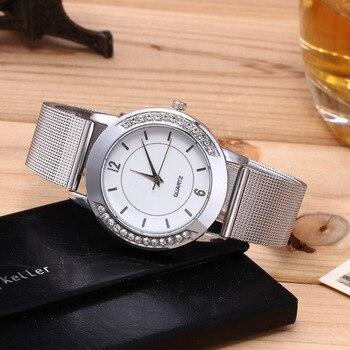 цена на Crystal Women Watches Fashion Simple Mesh Alloy Band Ladies Wristwatch Quartz Bracelet Clack Woman reloj mujer relogio feminino