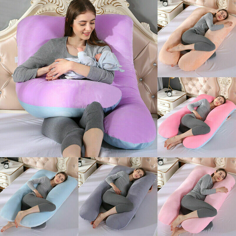 U-Shape Maternity Pillow Pregnant Women Comfortable Soft Cushion Bedding Full Body Nursing Pregnant Pillow Removable & Washable
