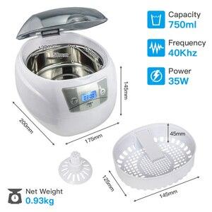 Image 3 - SKYMEN ultrasonik temizleyici 600ml 35W 40kHz ultrasonik çamaşır para paraları takı pedikür tırnak sanat araçları temizleyici
