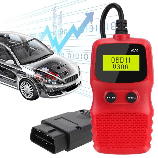 OBD2コードリーダーobd 2スキャナobdii elm 327プラグアンドプレイ車診断ツールデジタルディスプレイV300手開催