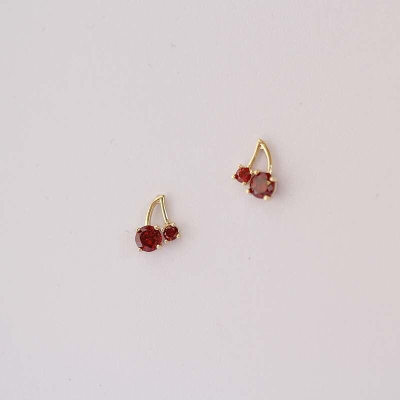 Solid 9k Gold 9ct Rose Gold Flower Ladies Stud Earrings