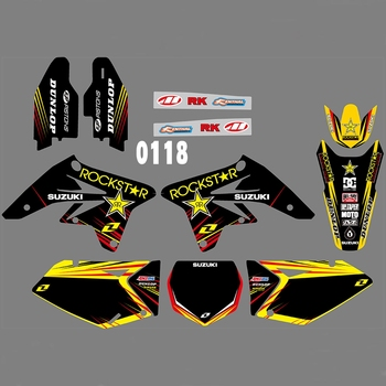 For SUZUKI RMZ250 2007-2009 Graphics Decals Stickers Custom Number Name 3M Full  Motorcycle Backgrounds Stickers Accessories