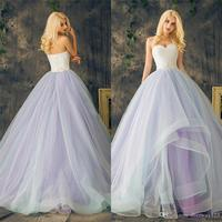 Sweetheart Lace up Ball Gowns Purple Plus Size Multi Color Layers Skirt Wedding Dresses Long Crystal Beading Lace Organza Bridal