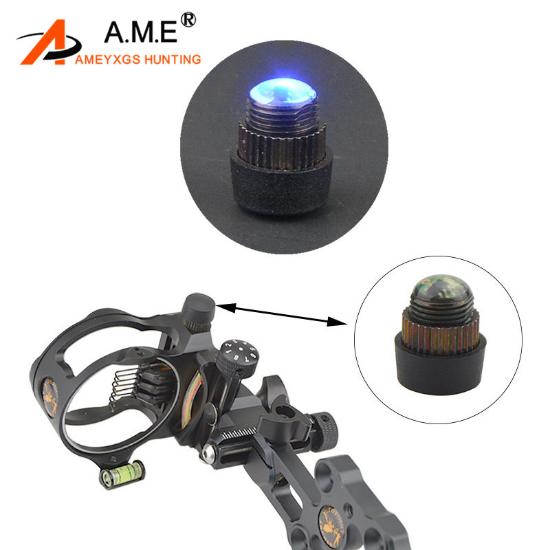 1Pc Archery 4 Levels LED Sight Blue Light  Adjustable Compound Bow 3/8