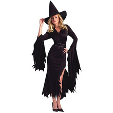 1 Set Female Halloween Cosplay Vampire Witch Plus Size Long Dress Autumn Winter Party Dresses  8.15