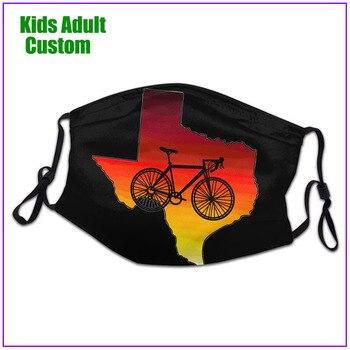 kids Men Women Sunrise Ride face mask reusable shield virus protection washable cloth custom designs bike cycling sport fashion