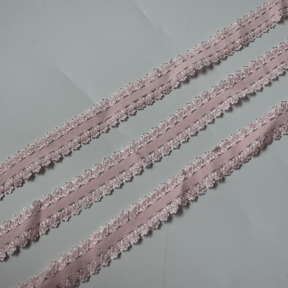 ╪Closeout DealsWaist-Garment-Accessories Lace Ribbon Trim Crown Sewing Pink 60y Stretchy Soft Bilateral