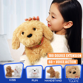 Intelligent Voice Control Electronic Dog Early Education Puzzle Simulation Plush Toy Music Sound Electric Doll