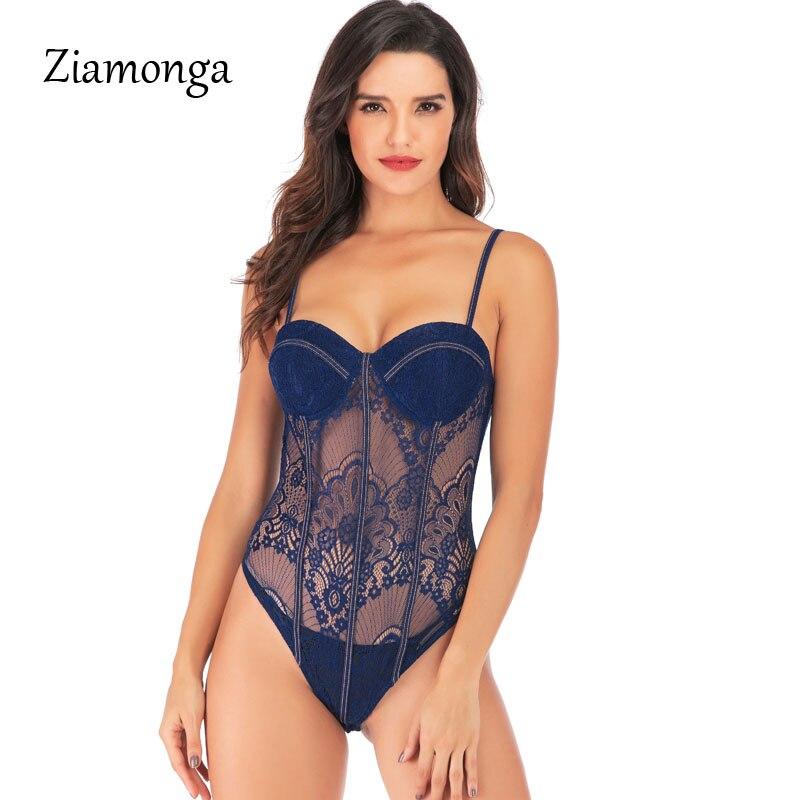 Ziamonga Brand Racy Muslin Bodysuit Women Bra Set Corset Lace Bra For Women Temptation Women's intimates Lace Overalls