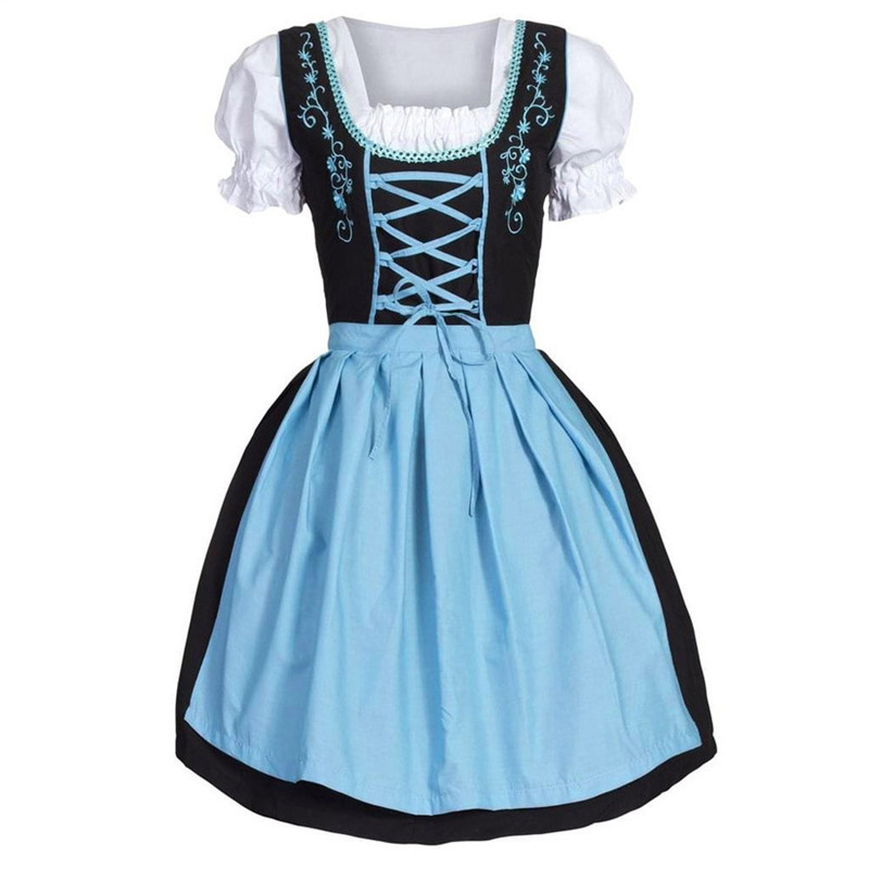 Oktoberfest Costume Dress Bavarian German Dirndl Women Beer -40