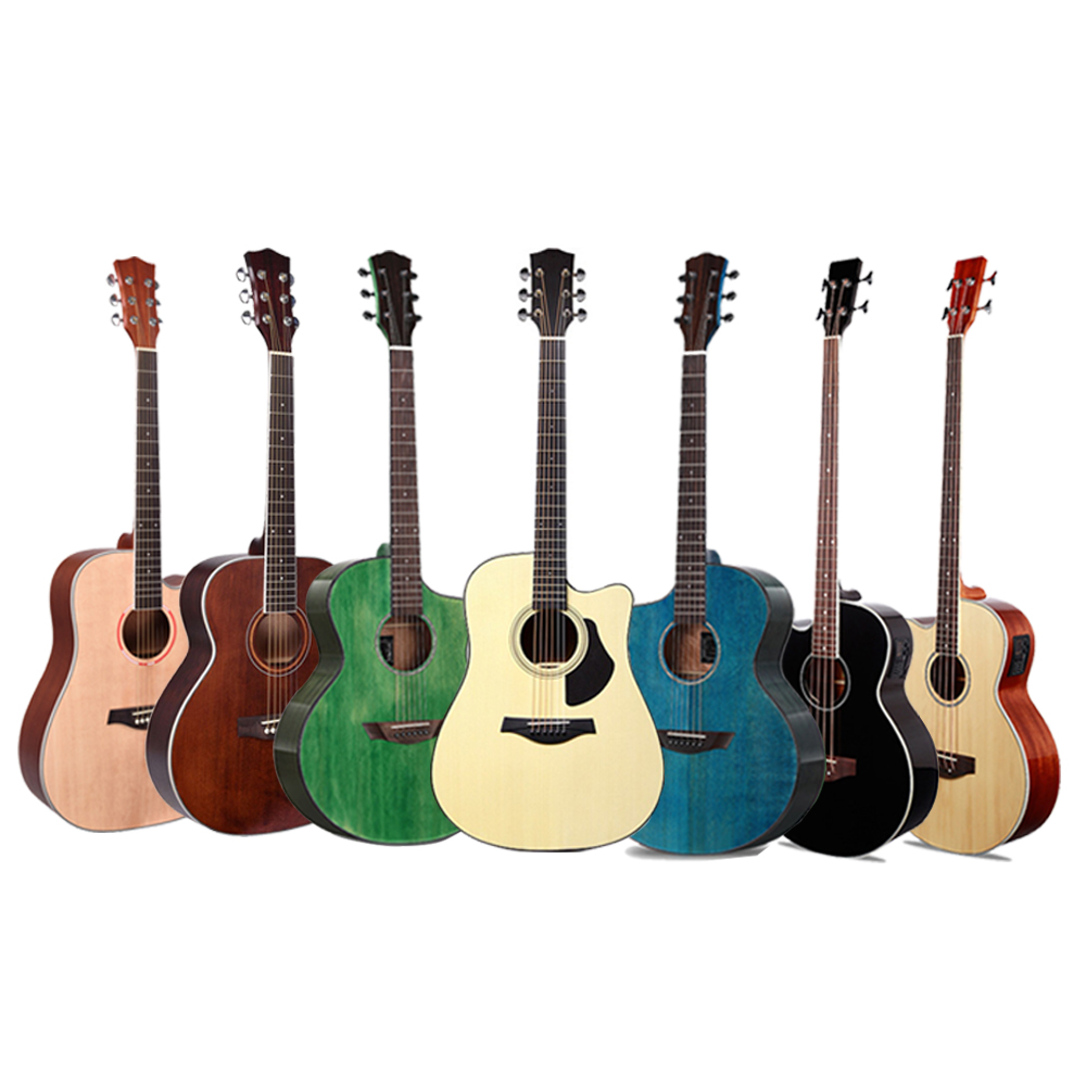 Индивидуальный Логотип Акустическая гитара и электрическая акустическая бас музыкальные Струнные инструменты гитара ra 36 40 41 деревянные