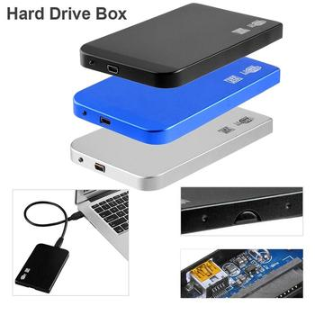 VKTECH HDD Enclosure Ultra Thin 2.5in USB3.0 SATA SSD HDD Hard Drive Case Aluminum Enclosure Box 5Gbps High Speed for PC