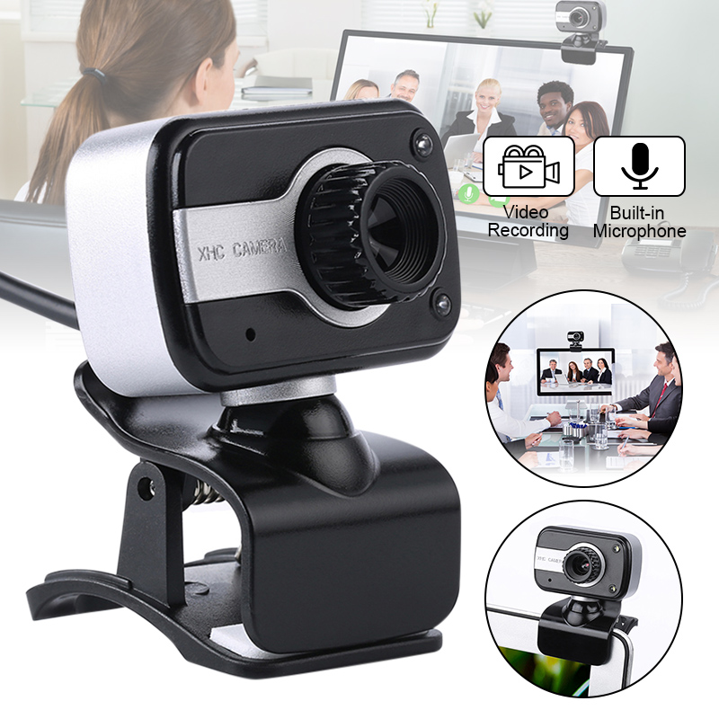 USB 2.0 HD Webcam Desktop Laptop PC Video Calling Camera Adjustable with Microphone VDX99