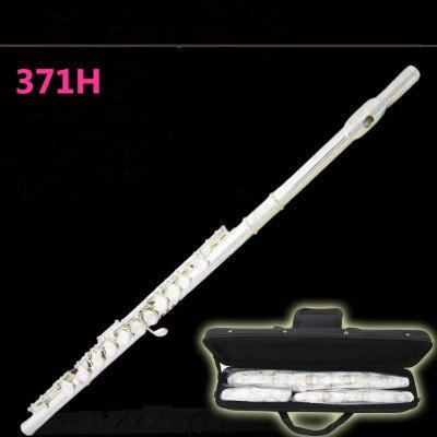 Флейта YFL 371 профессиональные Мельхиор C Ключ 16 Флейта с отверстиями посеребренные Музыкальные инструменты с чехлом и аксессуары Бесплатная