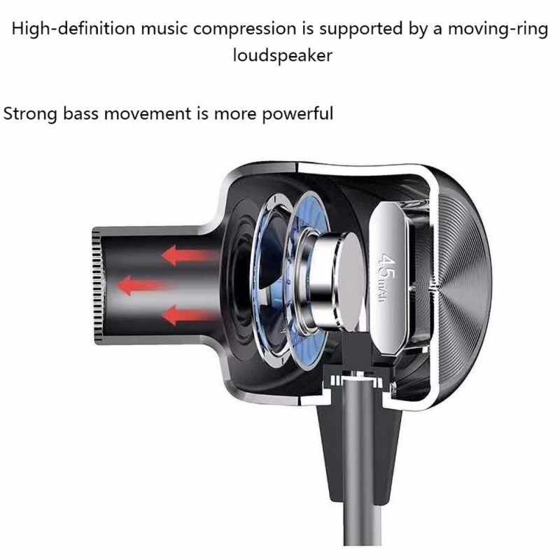 Bluetooth bezprzewodowe słuchawki sportowe słuchawki douszne styl X-neck Halter magiczne słuchawki douszne przewód sterowania pszenicy miękkie komfort materiał