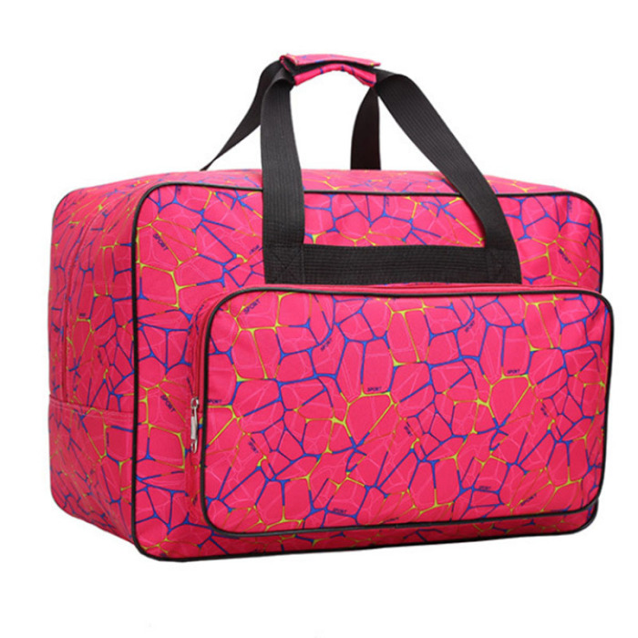 Wear Resistant Oxford Sewing Machine and Accessories Carrying Case Extra Large Sewing Machine Storage Bag Lightweight,Roomy Pockets and Comfortable Carry Handles Design Purple