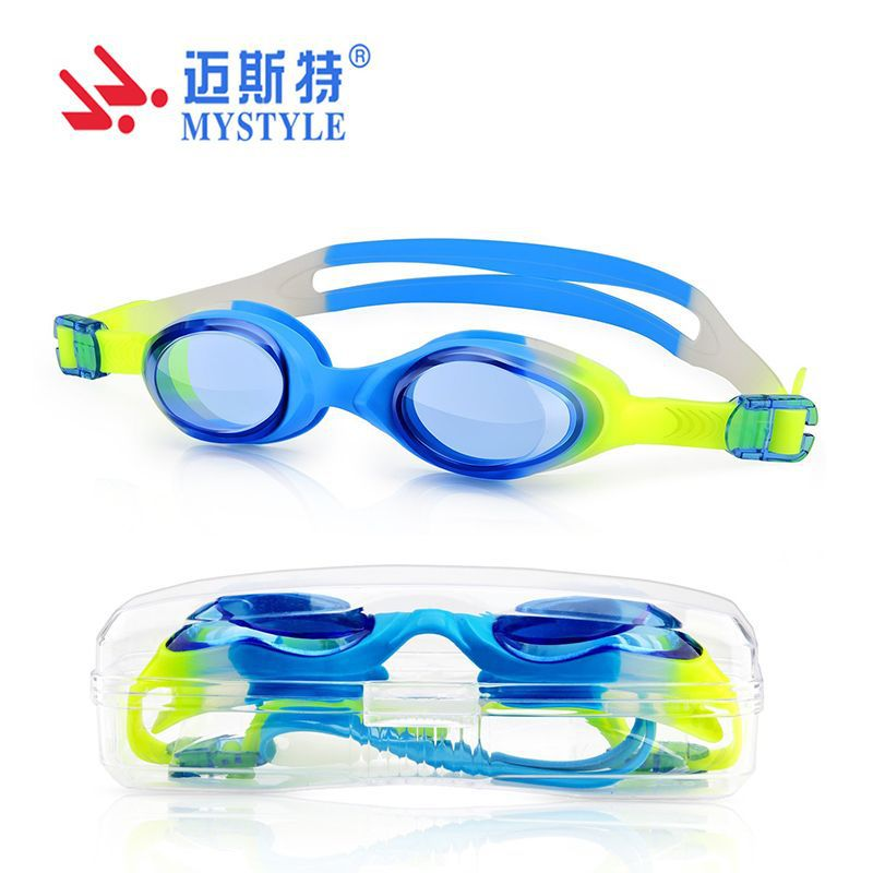 New Style CHILDREN'S Swimming Goggles Cute Silica Gel One-piece Type Swimming Glasses Top Grade Teenager Goggles