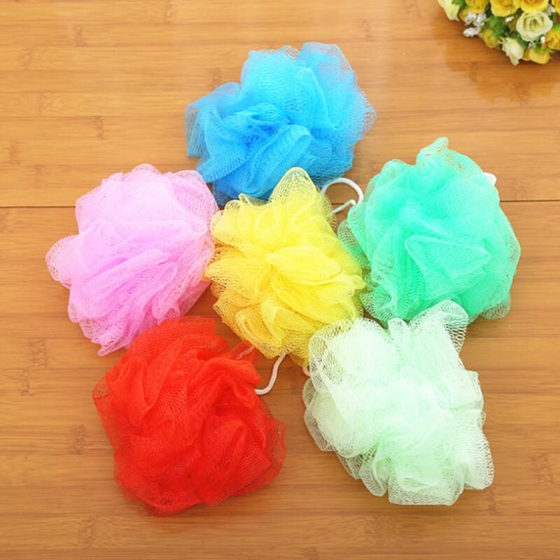 Mesh Bath Ball Shower Sponge Loofah Ball Soft Nylon Mesh Puff Body Cleaning Balls Bath Shower LX8854