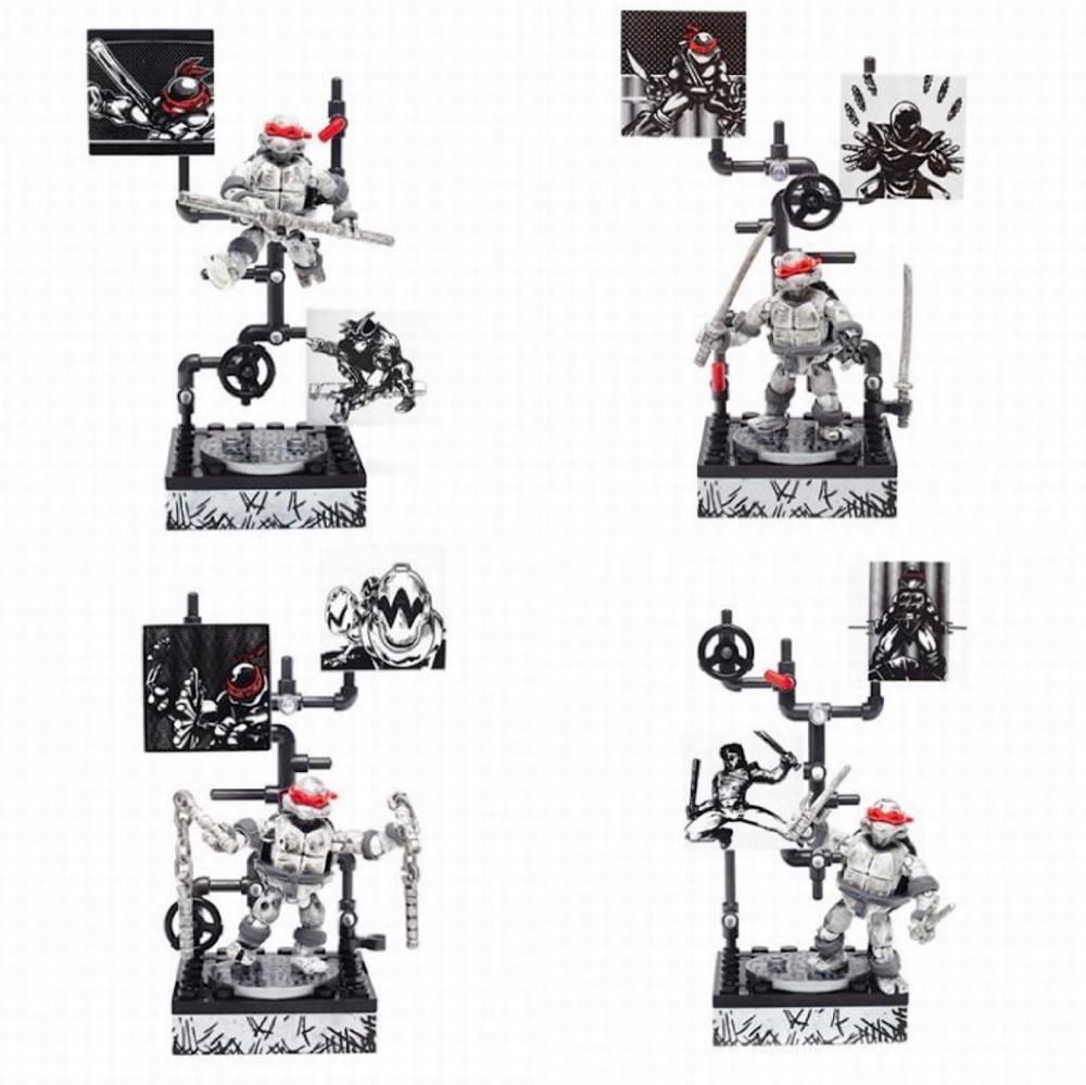 Action Figure TMNT COLLECTOR SERIES Don Leo Raph Michelangelo MEGA Building Bloks Toys
