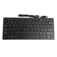 Mini Slim Multimedia USB Wired External Keyboard For Notebook Laptop PC Computer