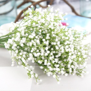 Artificial flowers White Gypsophila wedding decorative flowers bridal accessories clearance vases for home decor scrapbooking