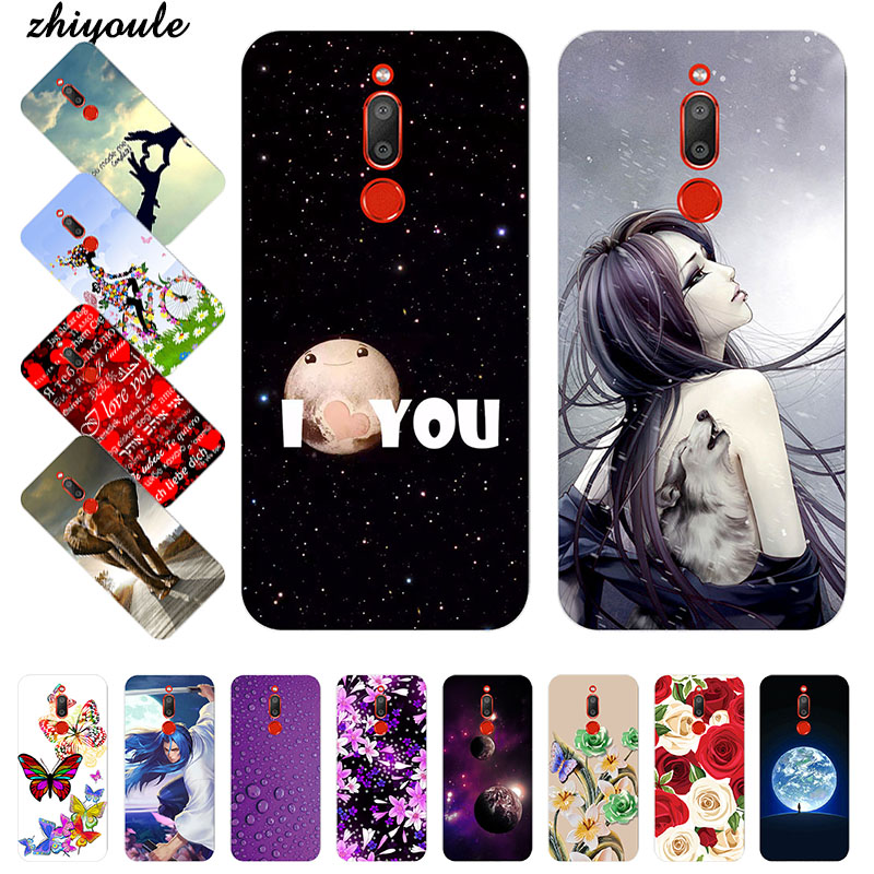 Cute Art Cases Coque For <font><b>Meizu</b></font> <font><b>M6T</b></font> M 6T Flower Soft Silicone Novelty Phone Shell For MeizuM6T <font><b>M811H</b></font> 5.7