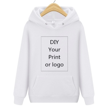 Solid Color DIY Print Hoodie Men/Women Sweatshirt Customize Logo Image Text Character Unisex Uniforms