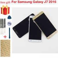 LCD For Samsung Galaxy J7 2016 LCD Screen SM- J710F J710 J710M J710H J710FN LCD Display Touch Screen Digitizer Assembly Frame