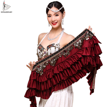 Women Belly Dancing Clothes Accessories Tribal belly dance hip scarf coin belt
